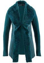 Sweter rozpinany ze sztucznym futerkiem • 139.99 zł • bonprix