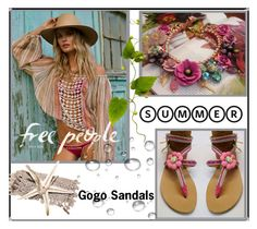 """""""Gogo Sandals  10"""" by nedim-848 ❤ liked on Polyvore"""