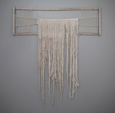 "Marc Manke, My Hair Has Grown Long Since Last We Met, 2010, aged cedar and cotton thread Dimensions: 81""x 70""x 3"""