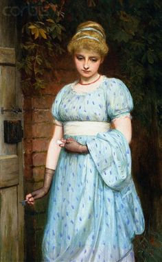 At the Garden Gate - Charles Sillem Lidderdale - (English: 1831-1895)