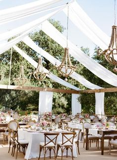 Open top tent via Shannon Leahy #whitewedding: