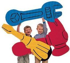 Our Giant Tool Cutouts help to make great memories for your birthday builder.