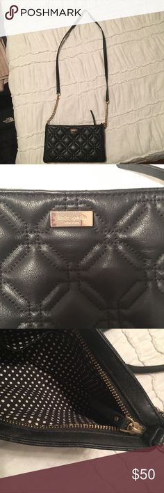 Kate Spade Crossbody Quilted Bag Rarely used kate spade quilted leather bag with polka dotted interior kate spade Bags Crossbody Bags