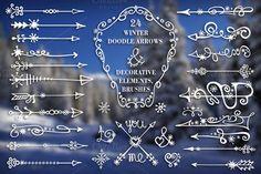Winter arrows & decor elements set by Tatiana Kost design on Creative Market