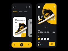 Nike App Shop designed by sealwang. Connect with them on Dribbble; Android App Design, Ios App Design, Web Ui Design, Interface Design, Design Design, Design Layouts, Flat Design, User Interface, Maquette Site Web