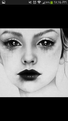 Illustration - illustration - Love this! illustration : – Picture : – Description Love this!creativeboysc… -Read More – Pencil Art, Pencil Drawings, Scary Drawings, Face Drawings, Girl Drawings, Art Amour, Portraits, Love Art, Painting & Drawing