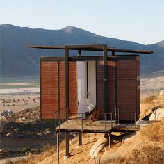 """Encuentro Guadalupe Antiresort, Baja California vía Food Wine """"The World's Most Beautiful New Resorts"""" Hotels And Resorts, Best Hotels, Luxury Resorts, Trondheim, Small Buildings, Baja California, Shelter, Modular Homes, Places Around The World"""