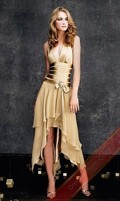 V-neck Dress By La Femme 11906,Short Yellow Homcoming Dress,Coctail Dress,Sexy Party Dress