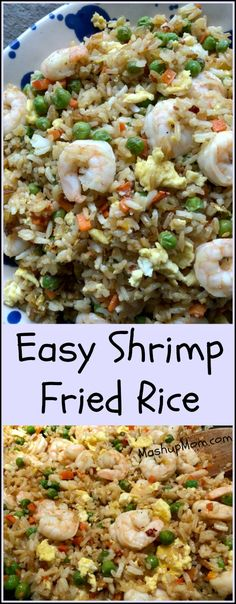 Easy Shrimp Fried Rice: A 30 minute weeknight dinner recipe! Who needs takeout, when you have your own easy fried rice recipe? http://www.mashupmom.com/easy-shrimp-fried-rice/ #friedrice #shrimpfriedrice #30minutemeals