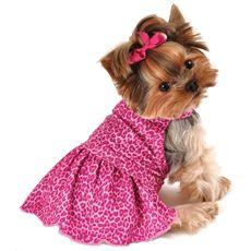 Pink Leopard Dog Dress