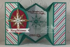 5 Panel Fancy Fold Card • Tutorial with patterns to download & YouTube Video.