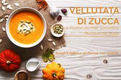 VELLUTATA DI ZUCCA Remise en form con le Ricette del Prof. Nicola Sorrentino