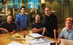 Steve Jobs with his iPod product guys in 2005: Tony Fadell, Jon Rubistein, Jony Ive and Phil Schiller