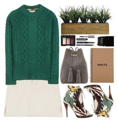 """""""Green."""" by shanelala ❤ liked on Polyvore featuring Burberry, Tom Ford, Laura Ashley, NARS Cosmetics, Bobbi Brown Cosmetics and Butter London"""