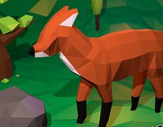 Low poly scene – Fox in the forest – First try to model an animalCreated on with Blender Asset – Game Development – Digital Art I really love foxes, thats the reason why I've chosen a fox as first attempt to model a animal i… 3d Assets, Low Poly, Digital Art, Fox, Scene, Artwork, Animals, Work Of Art, Animales