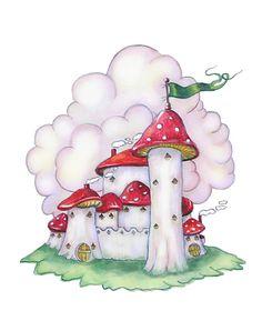 Fairy castle fairy art girl's room decor by HamiltonArtandDesign, $20.00