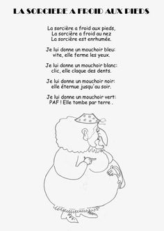 Comptine La sorcière a froid aux pieds Halloween Poems, Theme Halloween, Halloween Activities, Halloween Crafts, French Poems, Bricolage Halloween, French Worksheets, French Language Lessons, Teaching French