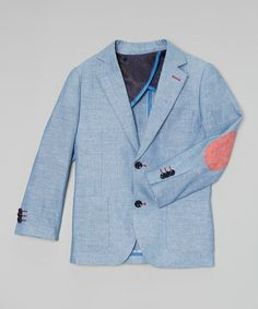 Loving this Blue Linen-Blend Blazer - Toddler & Boys on #zulily! #zulilyfinds