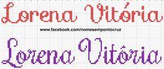 Girl Names, Cross Stitch, Math Equations, Girls, Female Names, Cross Stitch Letters, Alphabet Letters, Letter L, Names