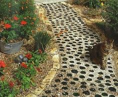 recycled wine bottle path dweaver