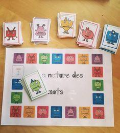 The nature of words – Site du jauraisduetrefleuriste! Montessori Activities, Teaching Activities, Teaching Tips, Cycle 3, French Classroom, School Games, Teaching French, School Life, Classroom Management