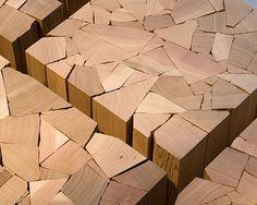 """Shattered"" wood furniture collection by Vancouver designer Brent Comber."