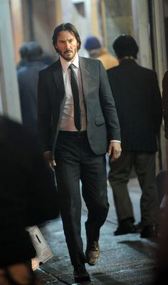 Actor Keanu Reeves on the set of 'John Wick 2' on November 16 2015 in New York City