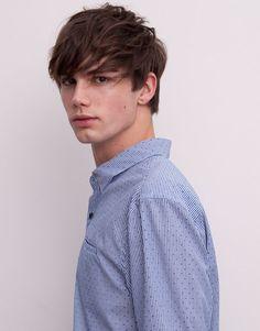Pull&Bear - man - shirts - striped shirt - blue - 05472546-V2015