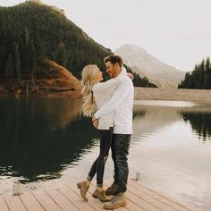 46 Cute Couple Romantic Pictures - - 'When we love we always strive to become better than we are. When we strive to become better than - Image Couple, Photo Couple, Couple Shoot, Engagement Photo Outfits, Engagement Couple, Engagement Shoots, Casual Engagement Outfit, Fall Photo Shoot Outfits, Field Engagement Photos