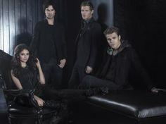 Joseph Morgan, Ian Somerhalder, Paul Wesley and Nina Dobrev in The Vampire Diaries (2009)