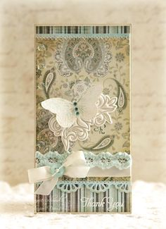 "Antique Thank You tag by Laurie Schmidlin ""Just Give Me Stamps"""