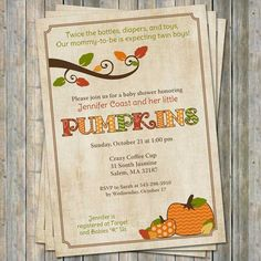 fall baby shower invitations baby shower by freshlysqueezedcards
