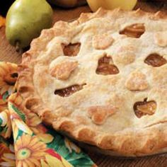 Apple Pear Pie Recipe ~ yummy!! And in my oven baking at this very moment!