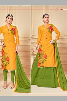 Yellow Green Stylish Wedding Wear Indo Western Style Suits Catalouge With Embroidary Work Antra Vol 15 Catalog 1002