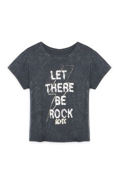 Primark - Grey ACDC Rock T-Shirt