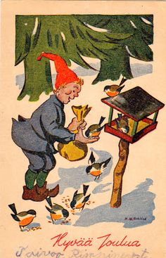"HANS BJÖRKLIND ""UKKO"" - 106951943635258866150 - Picasa-verkkoalbumit Scandinavian Christmas, Gnomes, Painting, Vintage, Art, Picasa, Craft Art, Painting Art, Kunst"