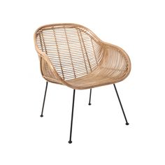 HK LIVING - NATURAL RATTAN LOUNGE CHAIR