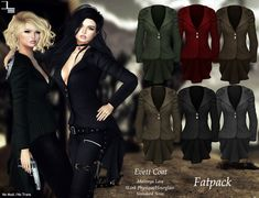 https://marketplace.secondlife.com/p/DE-Designs-Evett-Coat-Fatpack/10606003