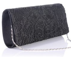 Shop ANDI ROSE Women's Floral Flower Lace Satin Evening Party Handbag Purse Clutch Prom Bag (Black Free delivery and returns on eligible orders. Buy Handbags Online, Purses And Handbags, Floral Bags, Floral Flowers, Evening Party, Evening Bags, Lace Bag, Style Challenge, Clutch Purse