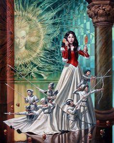 Mirror Asylum (Snow White) by Michael Cheval