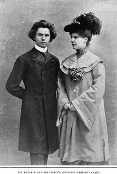 Jan Kubelík, who was said to be pining for the love of a beautiful woman, has found his affinity in the person of Countess Marianne Csáky, niece of Coloman von Szell, the Hungarian Prime Minister.