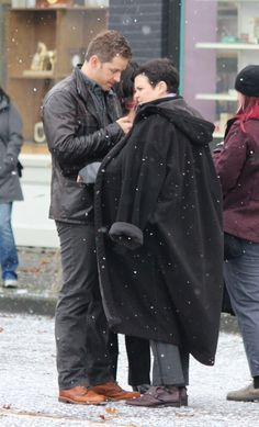 Josh Dallas and Ginnifer Goodwin BTS on October 22nd 2014. Pictures by larry.andreutti