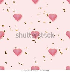 Find Seamless Pattern Pink Hearts Golden Confetti stock images in HD and millions of other royalty-free stock photos, illustrations and vectors in the Shutterstock collection. Stock Portfolio, Pink Hearts, Confetti, Royalty Free Stock Photos, Illustration, Artist, Fabric, Pattern, Image