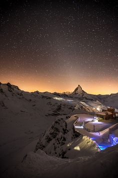 Matterhorn Under the Stars - On The Border Between Switzerland & Italy