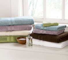 PB Organic 600-Gram Weight Bath Towels - Select Items #potterybarn 0001