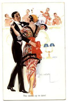 DANCE-DANSE-ILLUSTRATEUR-SIGNED-THE-DANCE-UP-TO-DATE-ELEGANCE-COUPLE-DE-DANSEURS