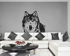 ik628 Wall Decal wolf animal predator forest leader alpha male bedroom children