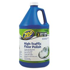 Zep Commercial 1044999 High Traffic Floor Polish, 1 gal Bottle - Achieve a durable, high-gloss shine that resists scuffs and marks. This professional strength floor polish even prevents slips.