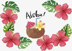 Rojo flor tropical Poster, Vector De Material, Viaje De Graduación, Isla De Hawaii PNG y Vector