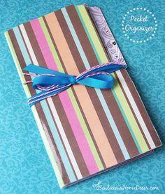 Easy Pocket Folder Organizer Tutorial + Giveaway